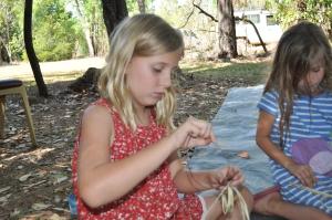 15-07-08 Waradjin weaving 3